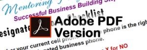 Designated Phone PDF Form
